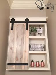 Door Storage Cabinet Diy Sliding Barn Door Bathroom Cabinet Shanty 2 Chic