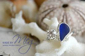 sea glass engagement rings sea glass and engagement ring made by meg jewelry