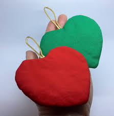 fabric heart christmas ornament blanks sewing supplies christmas