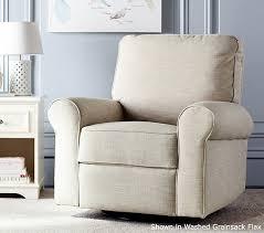swivel glide chair comfort swivel glider recliner pottery barn