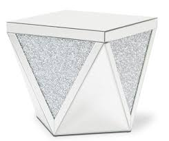 Michael Amini Oppulente Collection Michael Amini Montreal Mirror With Crystal End Table Usa