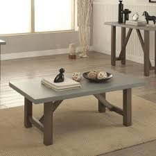 concrete dining room table coaster 704248 driftwood finish coffee table with concrete look top