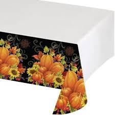 pumpkin tapestry thanksgiving 54 x 108 plastic tablecloth