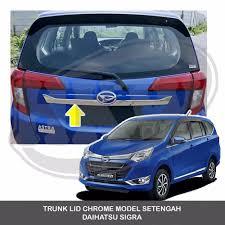 Daihatsu Sigra Trunk Lid Cover Chrome jual terlaris trunk lid chrome model setengah daihatsu sigra di