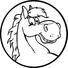 proud stallion cartoon horse coloring page wecoloringpage
