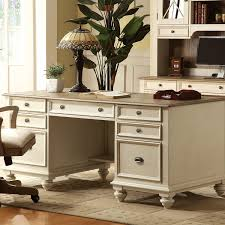 Executive Office Desks For Home Coventry Two Tone Executive Desk W Drawers Weathered
