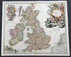 Rit Map 1690 Nicolas Visscher Large Old Antique Map Of Great Britain
