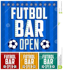 football sports bar menu card design template stock vector