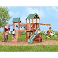 big backyard f23270 hillcrest wooden swing set