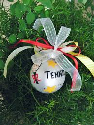 tennis ornament personalized tennis racket tennis
