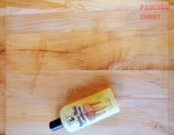 butcher block painting sunny