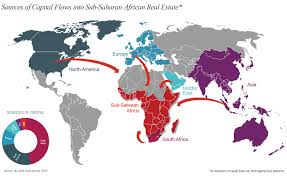 Sub Saharan Africa Map by Global Real Estate Capital Beginning To Discover Sub Saharan