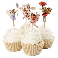 New Years Cupcake Decorating by Aliexpress Com Buy 48pcs Flower Fairy Cupcake Toppers Picks For