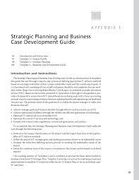 appendix e strategic planning and business case development