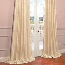 Faux Dupioni Silk Curtains Buy Winter Ivory Yarn Dyed Faux Dupioni Silk Curtains