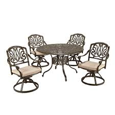Hampton Bay Corranade 5 Piece - 6 7 person patio dining furniture patio furniture the home depot