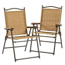 Folding Patio Furniture Set by Amazon Com Folding Uv Resistant Outdoor Chairs Set Of 2
