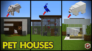 29 minecraft pet animal house designs youtube