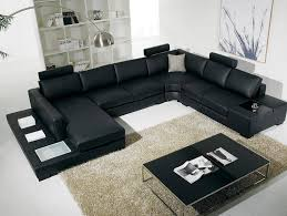 furniture contemporary best leather living room furniture black