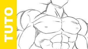 draw dragon ball goku u0027s body muscles