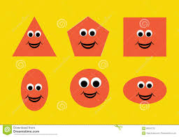 illustration of shapes with a happy cartoon face great for kids