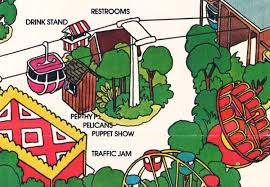 Six Flags Great Adventure Map Perthy P Pelican Puppet Stage At Six Flags Great Adventure