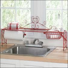 red over the kitchen sink shelf sink ideas