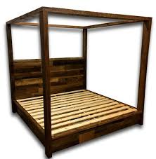 Wood Bed Platform Reclaimed Wood Bed Canopy Bed Storage Bed Platform Bed