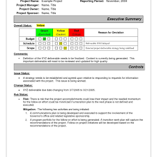 it issue report template sle status report template best business template for project