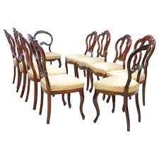 collection of ten louis philippe chairs in mahogany antique