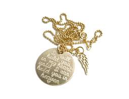 memorial necklace 14k gold memorial necklace with wing at sweet blossom gifts