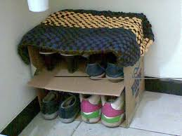 Shoe Home Decor Diy Shoe Rack Ideas E2 80 94 Home Decor Image Of Cardboard Loversiq