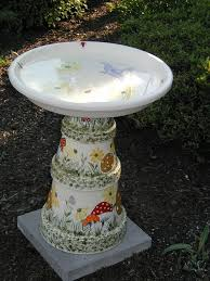 Flower Pot Bird Bath - 281 best clay pots images on pinterest clay pot crafts clay pot