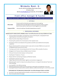 Executive Secretary Resume Sample by Resume For The Post Of Executive Secretary