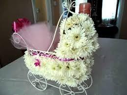 Carriage Centerpiece Baby Shower Floral Centerpiece Youtube