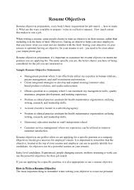 Objective Goal For Resume Resume Objectives