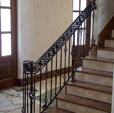 Modern Banister Rails Rod Iron Stair Railing In Modern Touch Translatorbox Stair