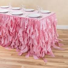 8 ft table skirt 14 ft curly willow table skirt light pink diy projects to try