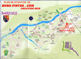 A Map Of France by Maps Of Bareges Ski Resort In France Sno