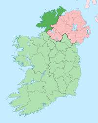 Map Of Ireland And England by County Donegal Wikipedia