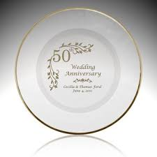 personalized wedding plate holy union personalized 50th anniversary plate with gold