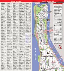 New York City Attractions Map by Streetsmart Nyc Map By Vandam City Street Map Of Manhattan New