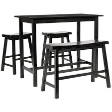 rectangle pub table sets black bar table set hali chrome black crocodile pu bar counter set