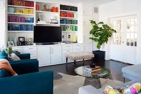 Blue Suede Chair Black Sofa With Orange Hermes Blanket Transitional Living Room