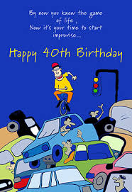 40th birthday improvisation free printable birthday card