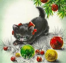 384 best old fashioned christmas cards cats images on pinterest