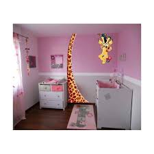 stickers geant chambre fille sticker enfant girafe