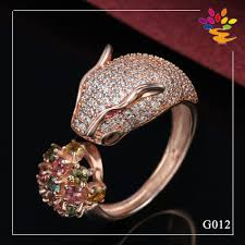luxury gold rings images Design for men gold ring solid leopard rose gold ring indian style jpg