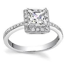 unique princess cut engagement rings unique halo princess cut engagement ring in