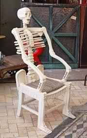 Wooden Skull Chair Midnight In The Garden Of Evil Skull Chairs Skeleton Chairs